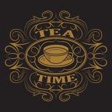 Une tasse de thé, logo Image libre de droits