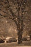 Une tempête de neige de NYC Photos stock