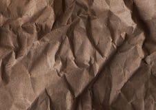 Une texture abstraite de papier de empaquetage fripé Images stock