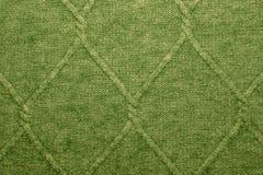 Une texture de laine verte Photographie stock libre de droits