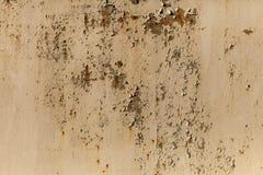 Une texture rouillée en métal de fer ondulé Images libres de droits