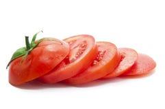 Une tomate coupée fraîche Photographie stock