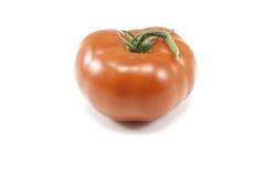 Une tomate sur le blanc Photo libre de droits