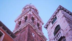 Une tour de cloche de Venise banque de vidéos