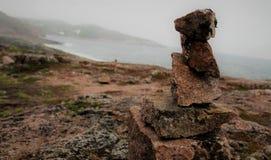 Une tour faite de pierres photo libre de droits