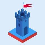 Une tour isométrique de château illustration de vecteur