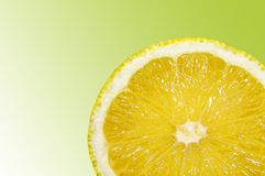 Une tranche de fruit orange Photos stock