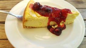 Une tranche de gâteau au fromage Photos libres de droits