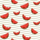 Une tranche de pastèque Tissu sans joint illustration stock