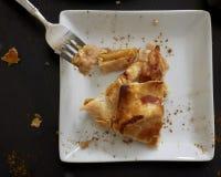 Une tranche de tarte aux pommes Image stock