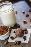 Une truffe de chocolat avec du chocolat et des écrous Image stock