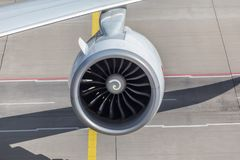 Une turbine d'avions Photo stock
