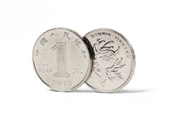 Une une pièce de monnaie chinoise de yuan Photographie stock libre de droits