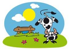 Une vache dans la nature Photographie stock libre de droits