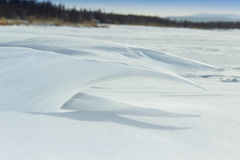 une vague neigeuse Images stock