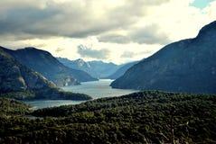 Une vallée dans Bariloche Photo libre de droits