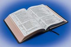 Une version attachée de Newberry de cuir de peau de chèvre du Roi James Bible photo stock