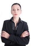 Une verticale d'un femme d'affaires Photos libres de droits