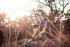 Une verticale de femme d'Asiatique d'émotion Images stock
