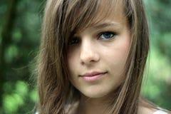 Une verticale de la fille magnifique Image libre de droits