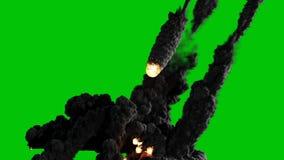 Une vidéo cinématographique de haute qualité d'un vol d'étoile filante ou de météore du ciel, s'allumant vers le haut de l'obscur banque de vidéos