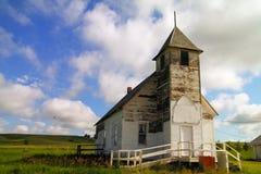 Une vieille église au Montana oriental photographie stock