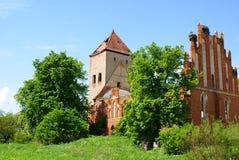 Une vieille église dans Dvorkin (Fridenburg), Kaliningrad Photo libre de droits