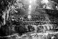Une vieille brique starway Photographie stock