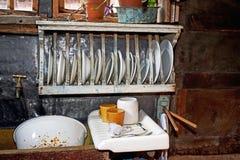 Une vieille cuisine de mode photographie stock libre de droits
