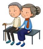 Une vieille datation de couples illustration stock