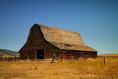 Une vieille grange près de Kalispel Montana Photographie stock