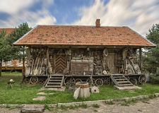 Une vieille hutte Photo stock