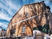 Une vieille maison à Odessa Image libre de droits