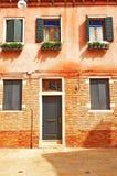 Une vieille maison à Venise Images libres de droits