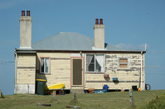 Une vieille maison de panneau de temps dans Yamba, Australie photos stock