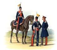 Une vieille photo des dirigeants et des soldats de l'empire russe illustration stock