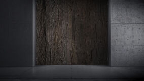 Une vieille porte en bois s'ouvre et nous volons à l'intérieur illustration de vecteur