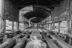 Une vieille tour de chaux dans Poldi Metallurgy images stock