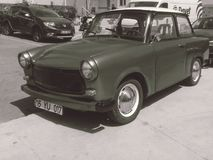 Une vieille voiture 70 du ` s image libre de droits