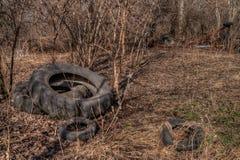 Une vieux ferme et équipement négligés de la moitié du 20ème siècle dedans Images libres de droits