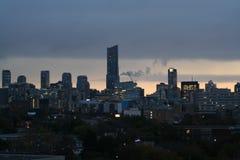 Une ville canadienne plus tard dans l'evenin Photos stock