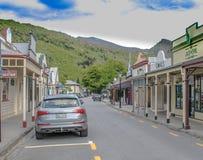 Une ville de cheval du Nouvelle-Zélande image libre de droits