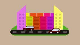 Une ville de divers, de coloré et d'habitable illustration stock