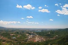 Une ville en plaine Photographie stock