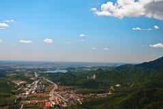 Une ville en plaine Photographie stock libre de droits