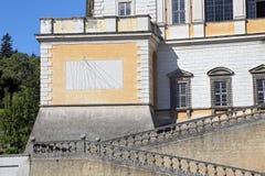 Une visite à la villa Farnese en italien Palazzo Farnese, une Renaissance massive et le Mannerist Images libres de droits