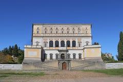 Une visite à la villa Farnese en italien Palazzo Farnese, une Renaissance massive et le Mannerist Photo libre de droits