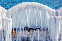 Une voûte glaciale Images libres de droits