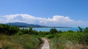 Une voie vers la mer Photo libre de droits