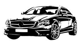 Une voiture élégante sur le fond blanc Images stock